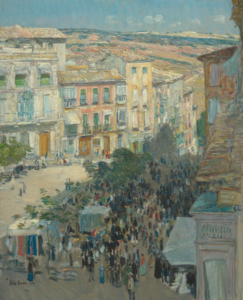 View of a Southern French City (1910), de Childe Hassam